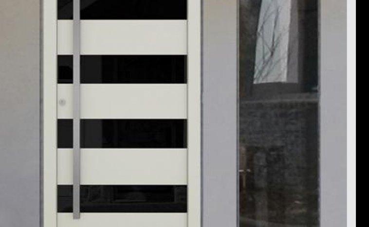 Drzwi zewnętrzne białe 2