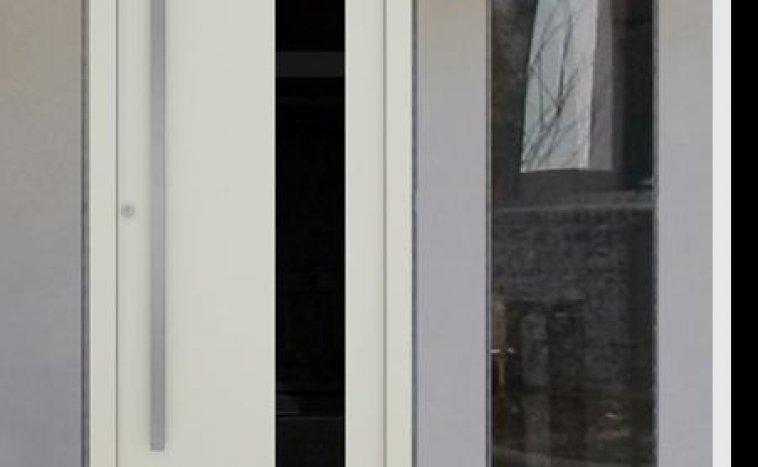 Drzwi zewnętrzne białe 1