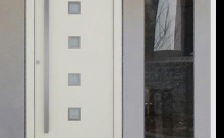 Drzwi zewnętrzne białe 5