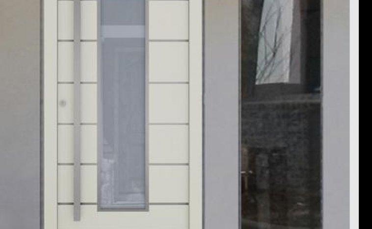 Drzwi zewnętrzne białe 8