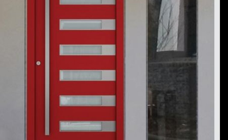 Drzwi zewnetrzne czerwien 2
