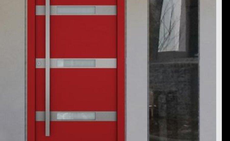 Drzwi zewnetrzne czerwien 4